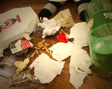 Lixo produzido em um único dia